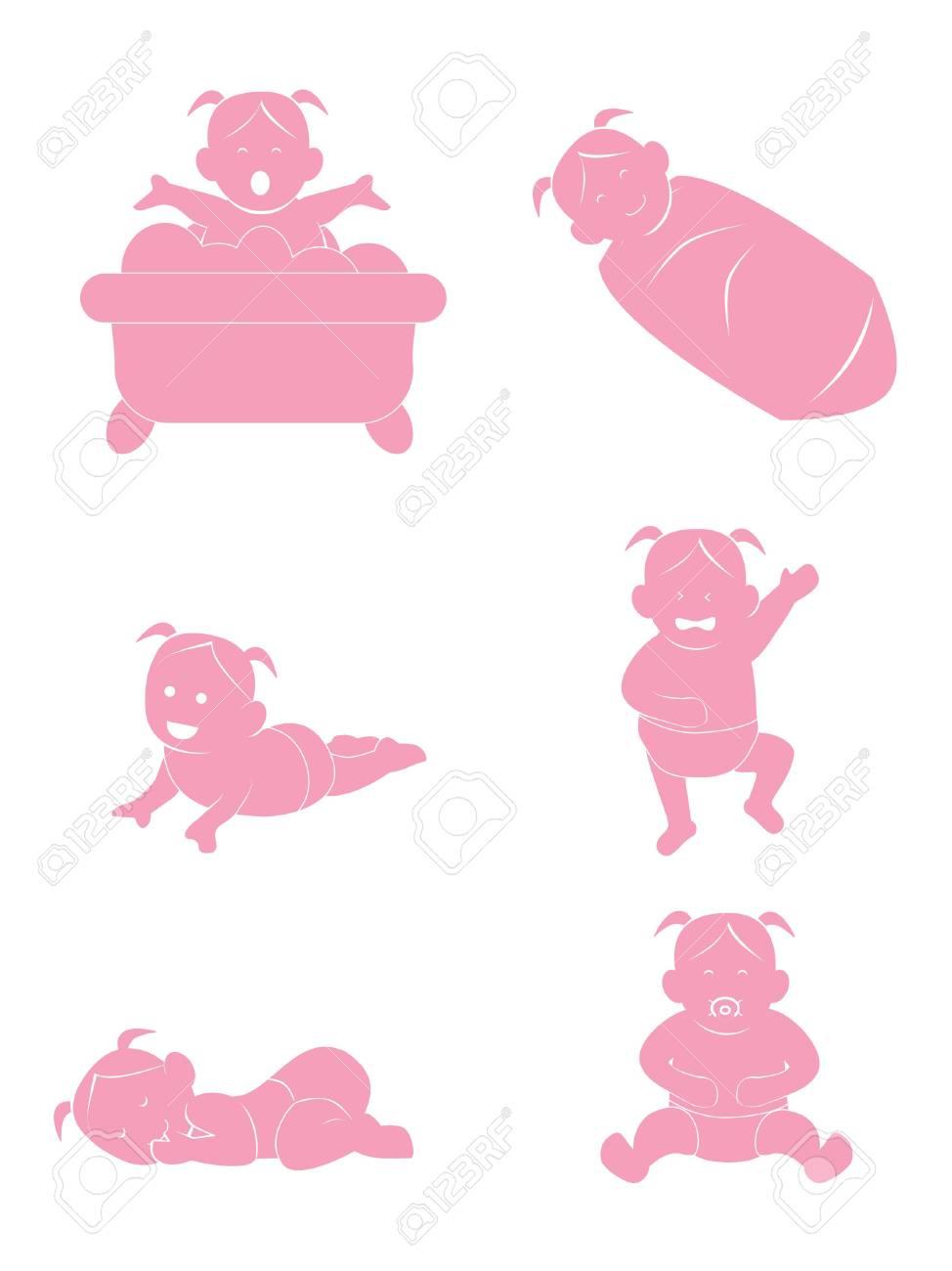 Baby Girl Stock Vector - 14413897