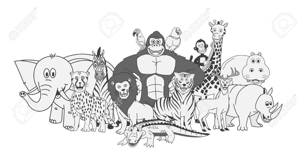 Zoo Animals Group wild Animals group  zoo