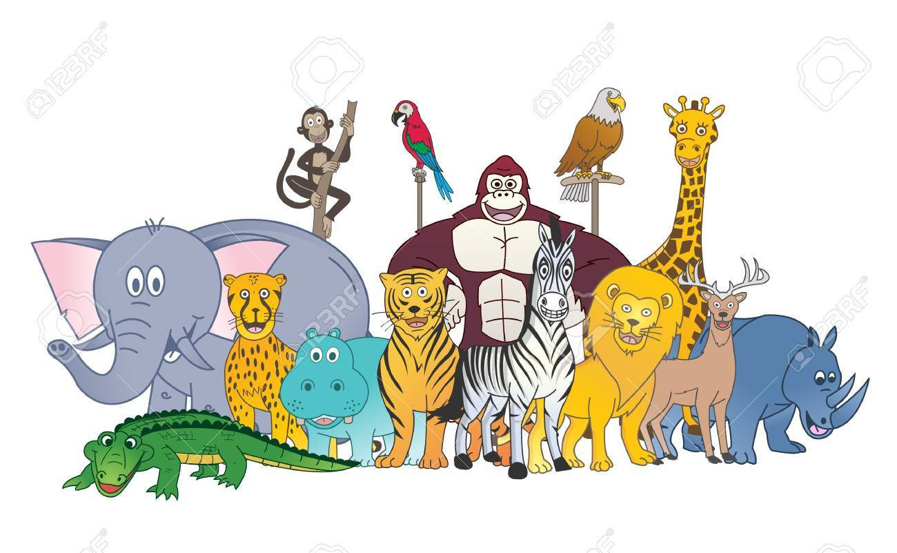 wild animal color group royalty free cliparts vectors and stock