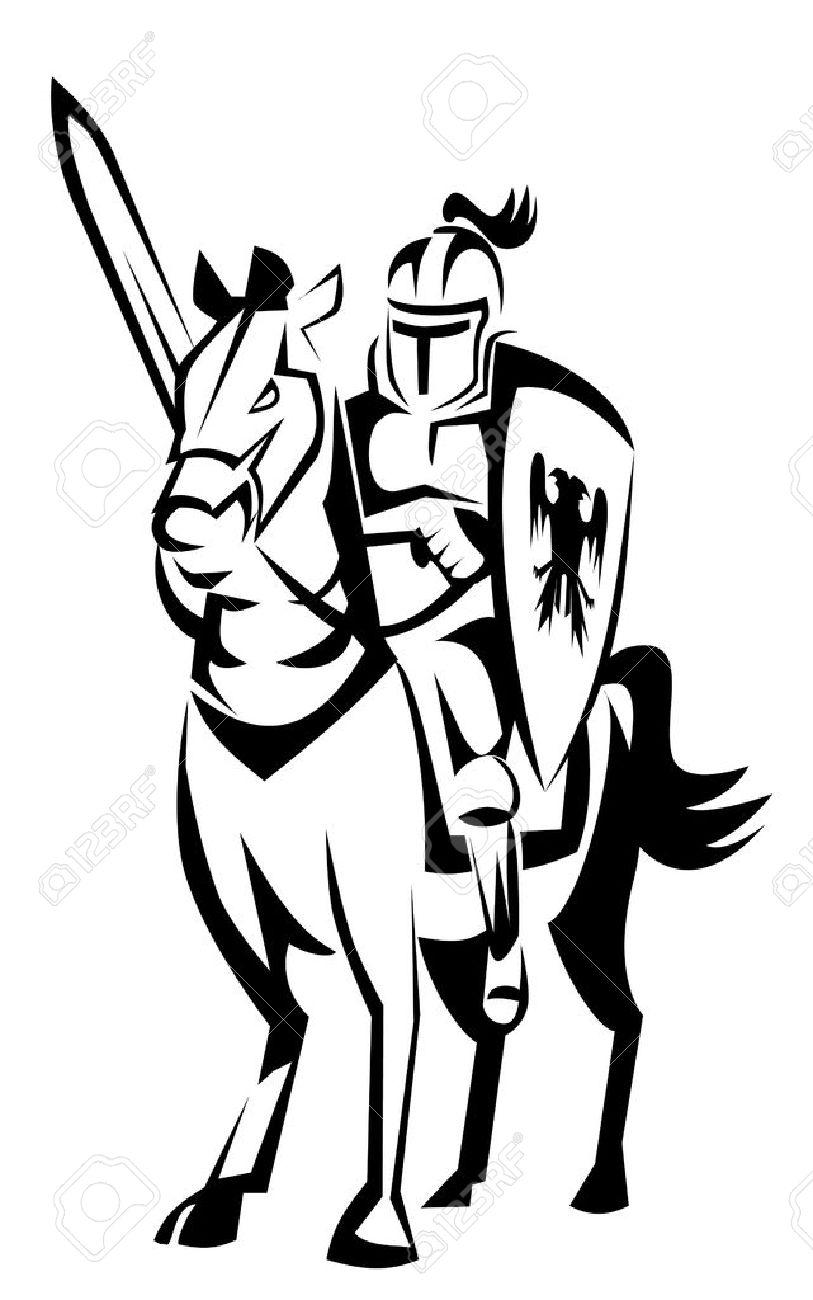 knight rider horse Stock Vector - 14968165