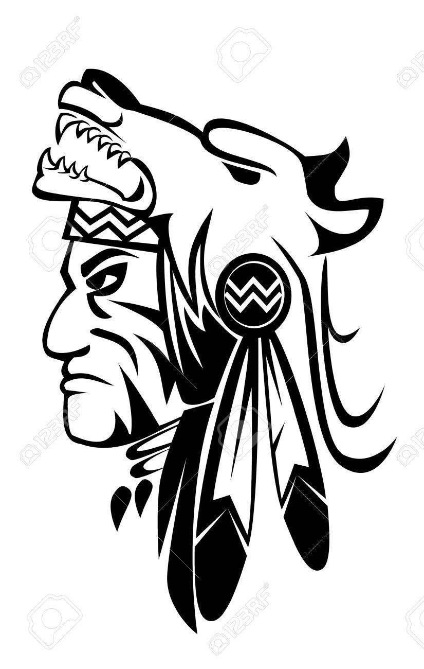 apache wolf Stock Vector - 14968211
