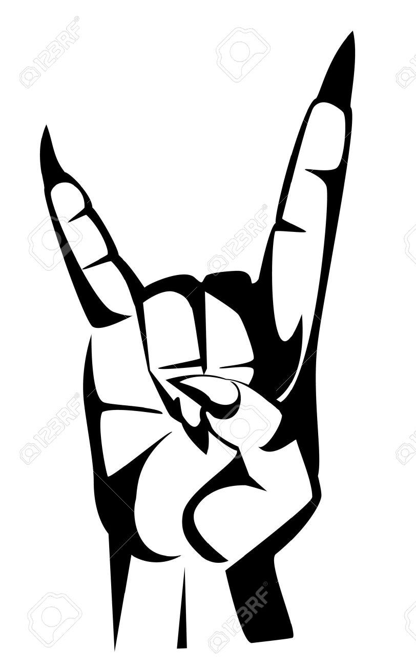 metal hand  tattoo  rock  Devil Symbols Tattoos