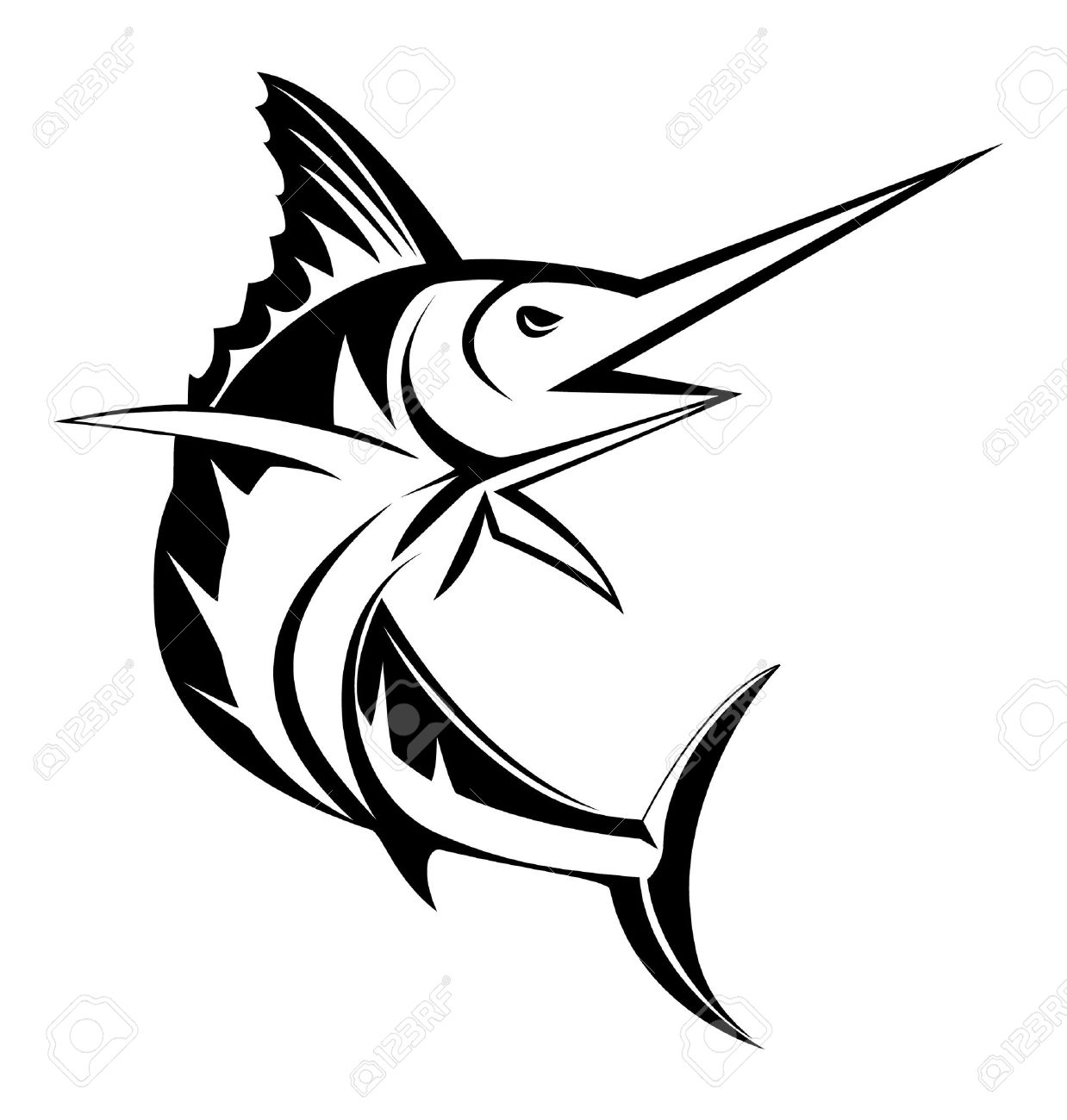 Uncategorized Swordfish Drawing marlin fish royalty free cliparts vectors and stock illustration vector 14968235