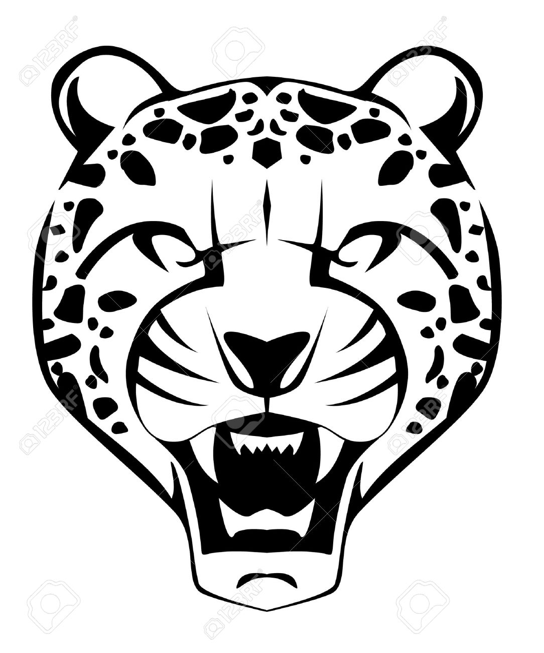 Cheetah Face Royalty Free Cliparts, Vectors, And Stock Illustration ... for Clipart Leopard Face  166kxo