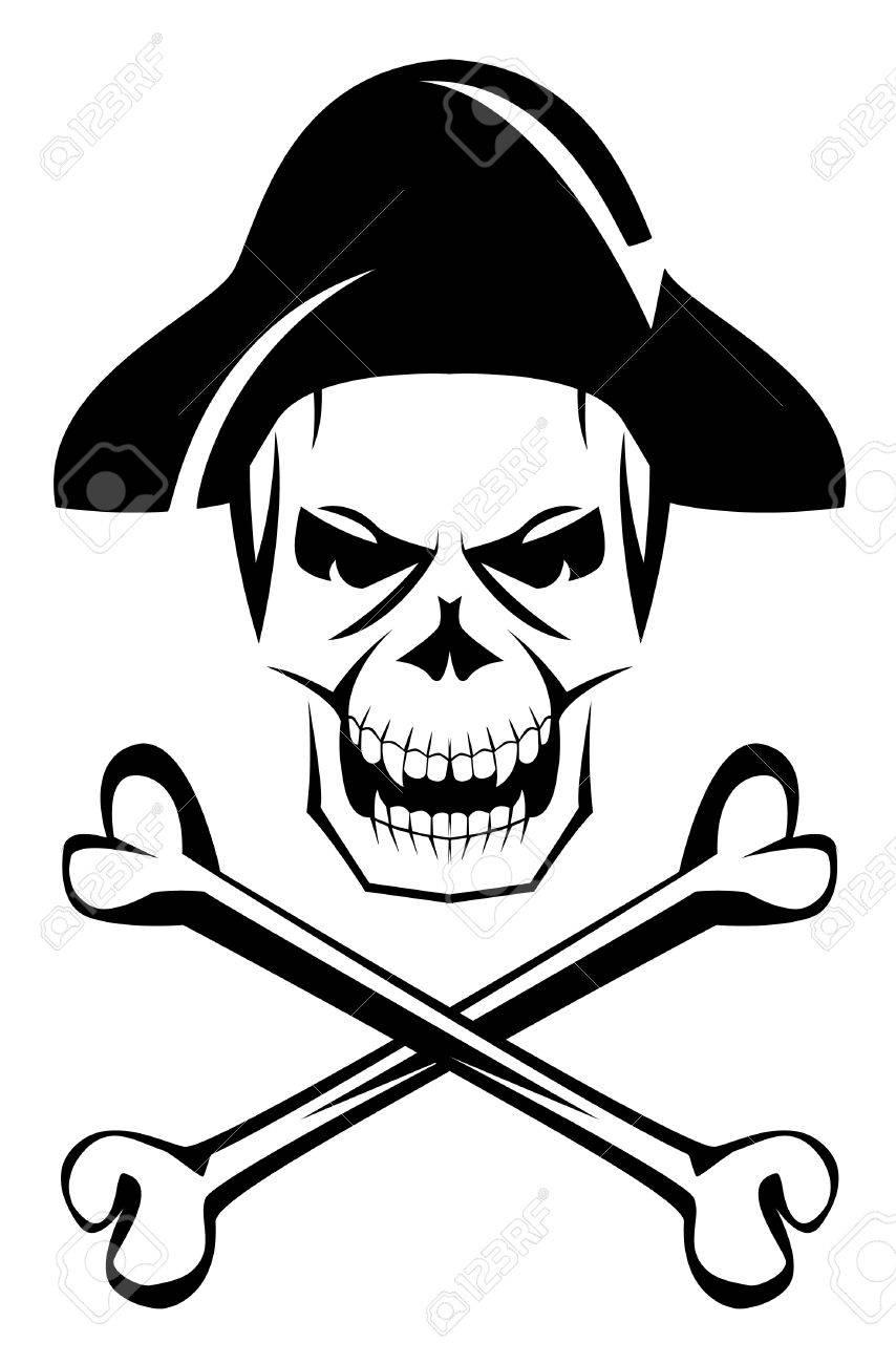 pirate skull bone royalty free cliparts vectors and stock rh 123rf com Baseball Bat and Ball Vector O Baseball Bat