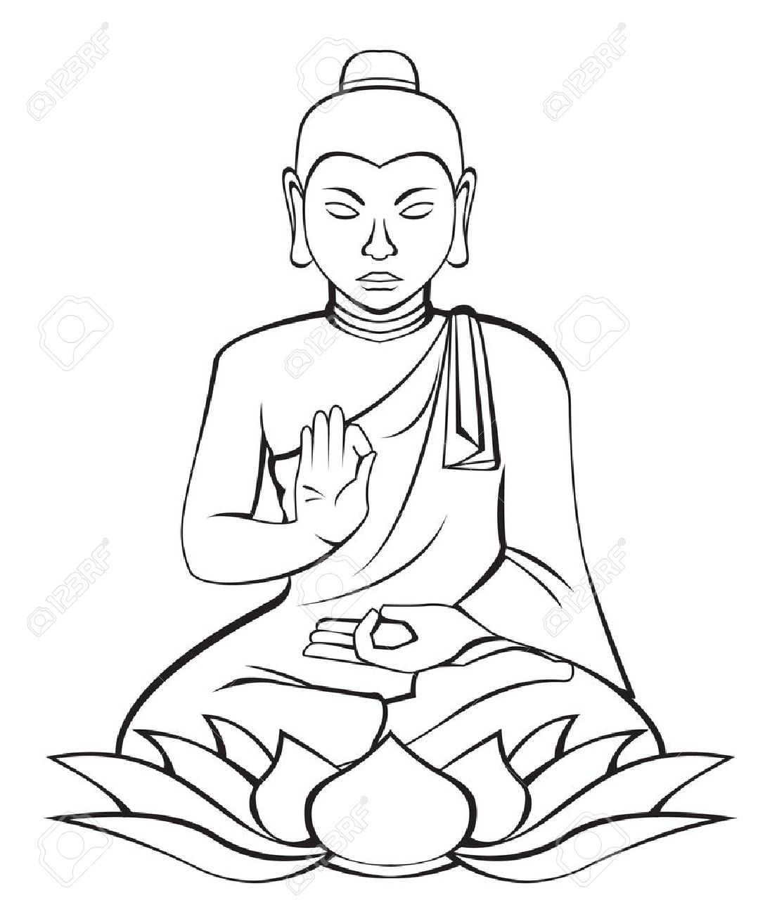 buddha stock vector 15468820