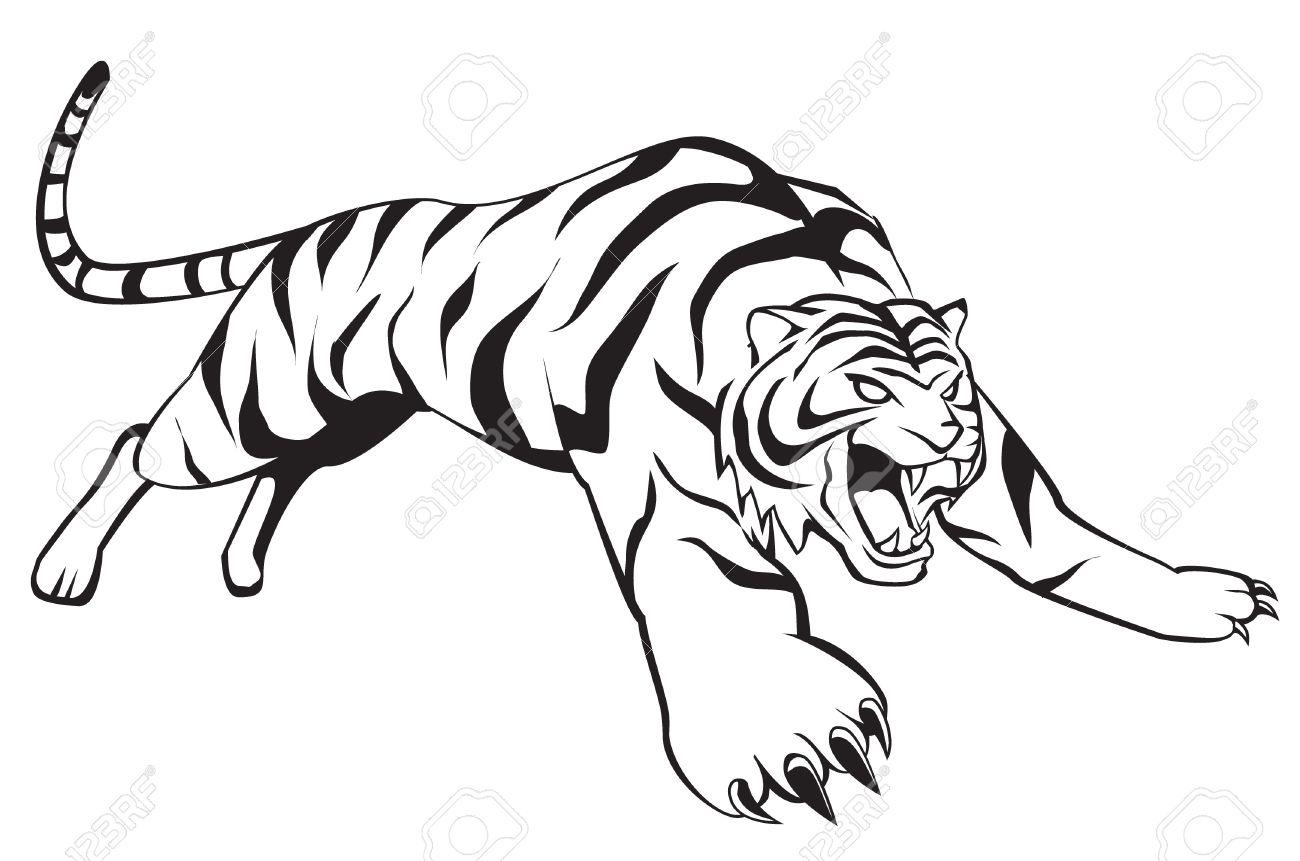 tiger jump royalty free cliparts vectors and stock illustration