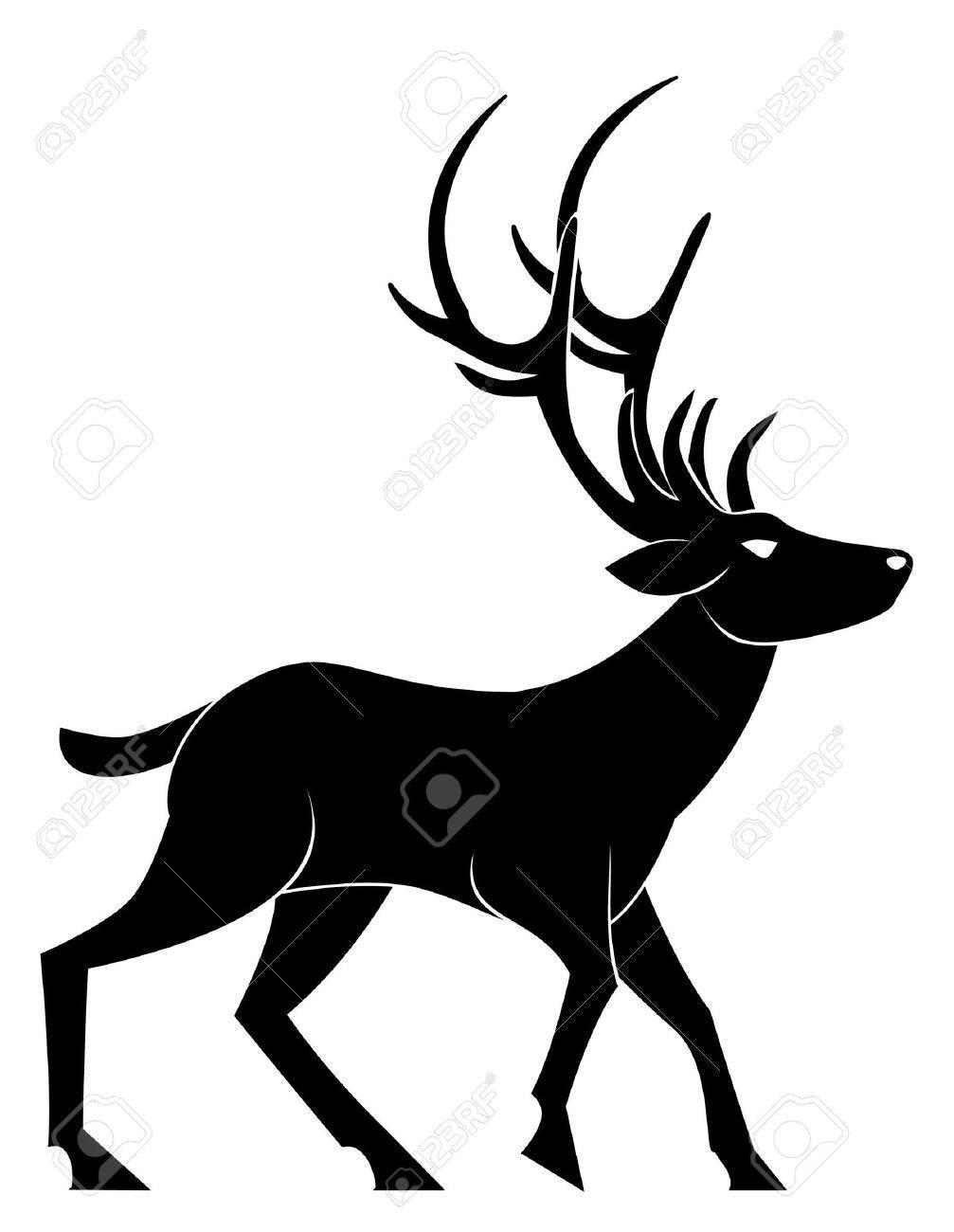 deer walk Stock Vector - 15613729