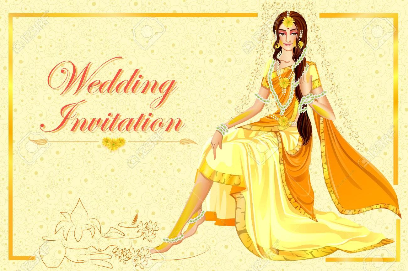 Indian Woman Bride In Haldi Wedding Ceremony Of India Royalty Free