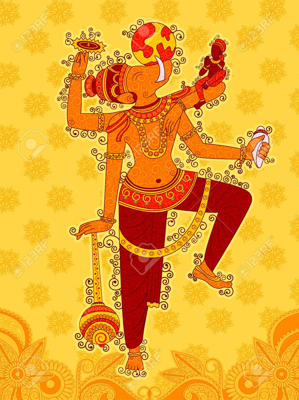 Vector design of Vintage statue of Indian Lord Varaha sculpture one of avatar from the Dashavatara of Vishnu in India art style - 84828564