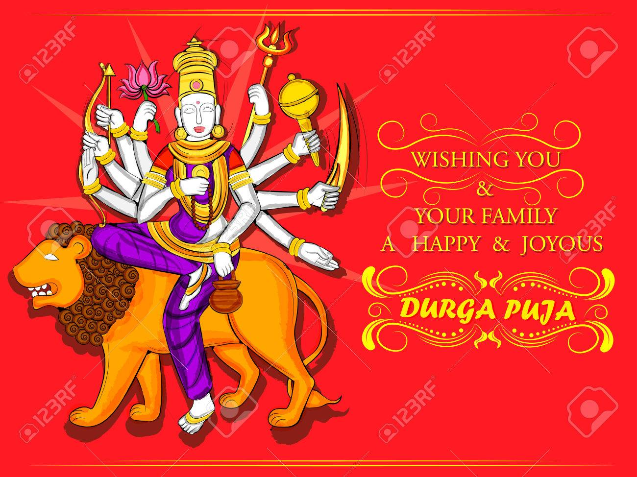 Vector design of indian goddess durga sculpture for durga puja vector design of indian goddess durga sculpture for durga puja holiday festival of india in dussehra kristyandbryce Image collections