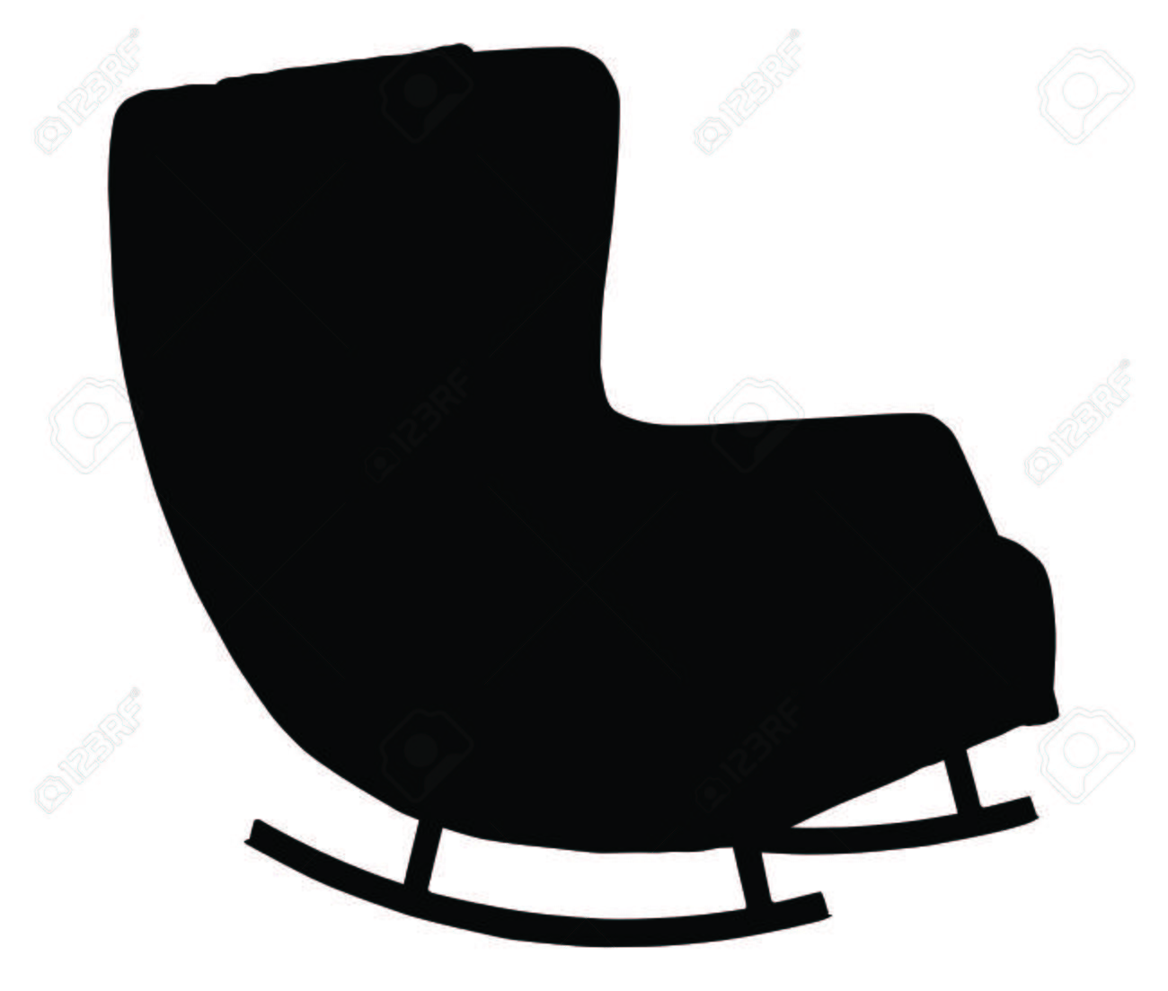 rocking chair silhouette. Silhouette Of Rocking Chair Isolated On White Background Stock Vector - 56731626