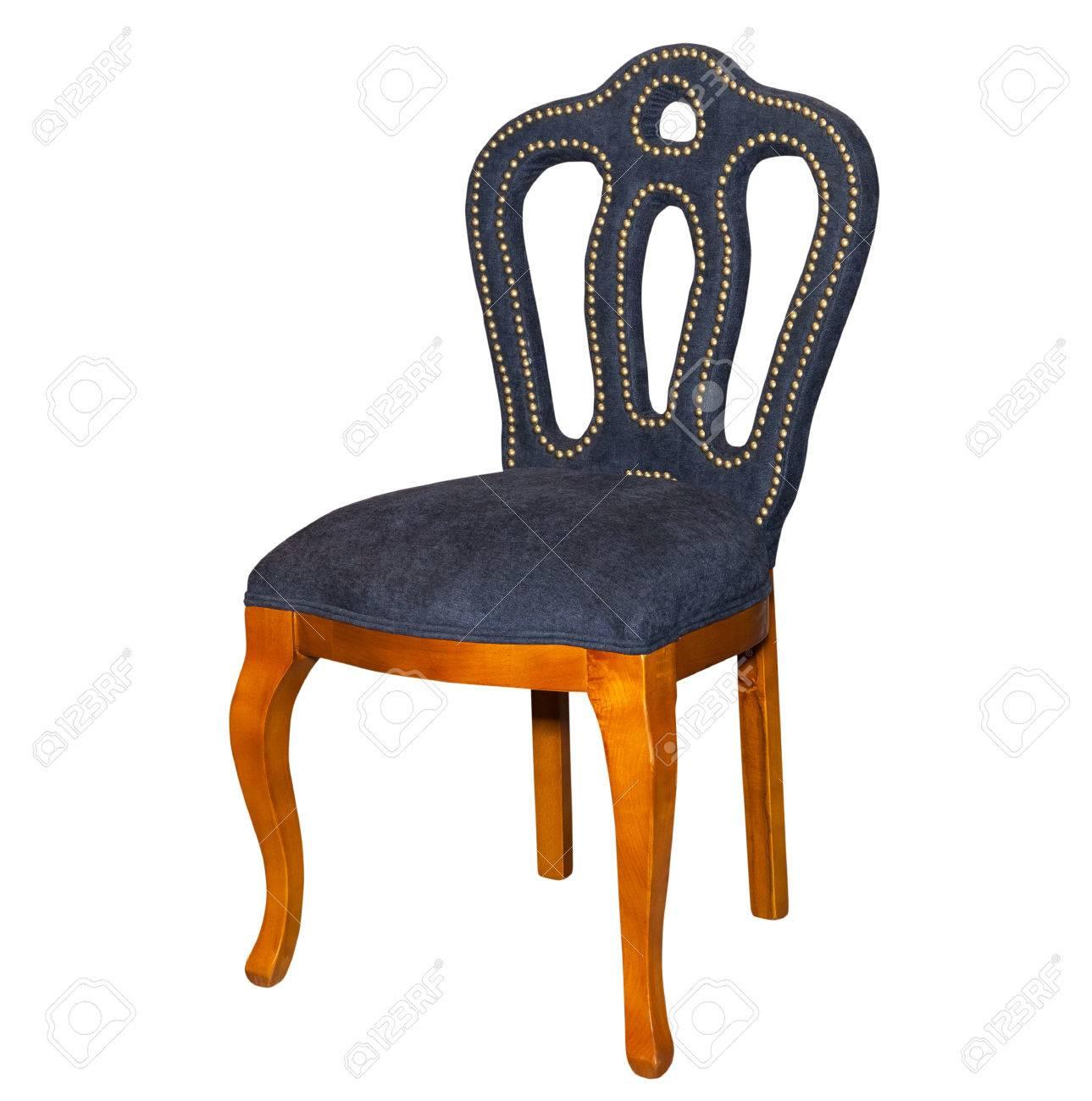 Brown Küchenhocker Stuhl Auf Weißem Hintergrund Lizenzfreie Fotos ...