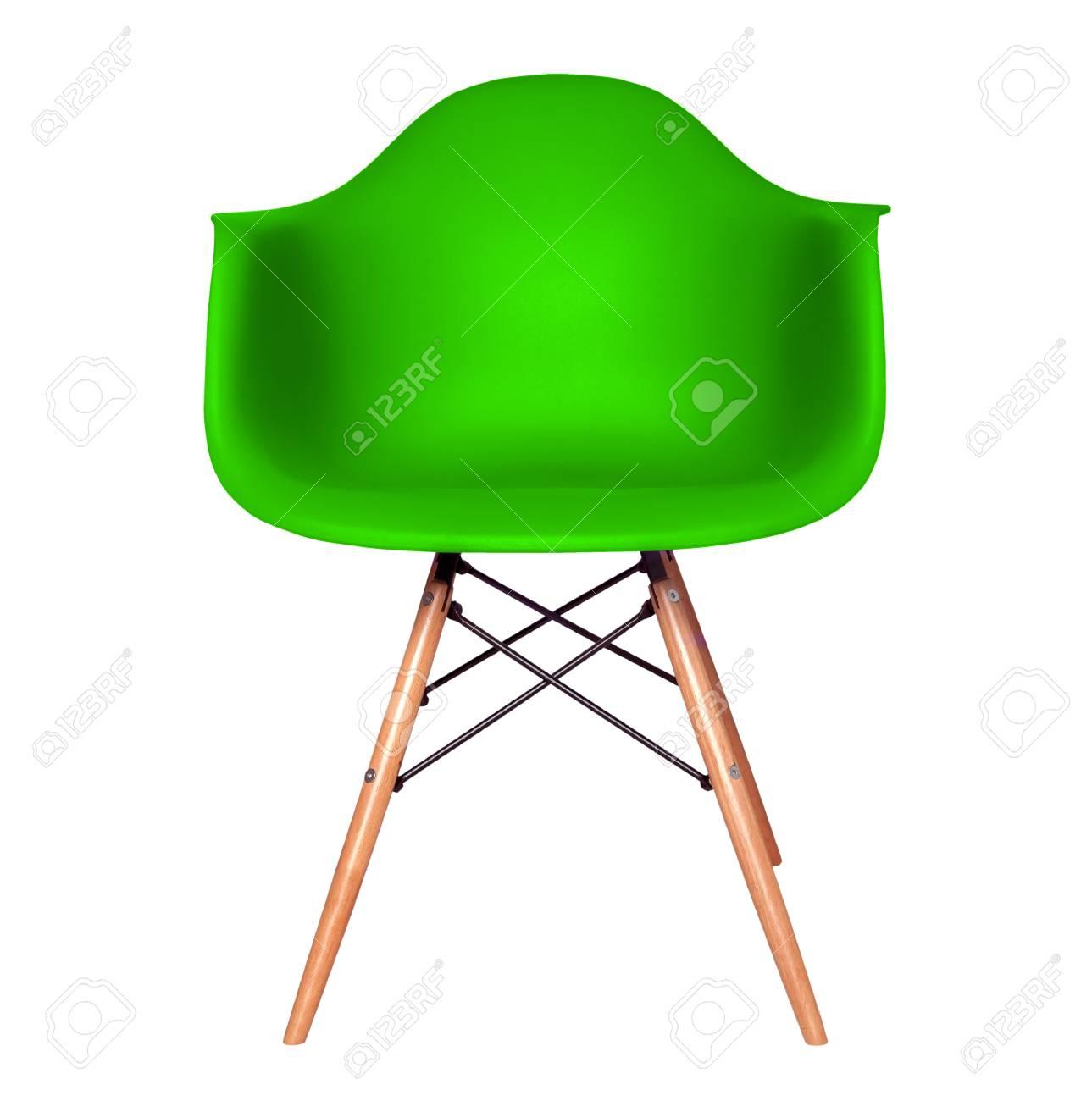 Vert Chaise Couleur Moderne Isol Sur Fond Blanc De