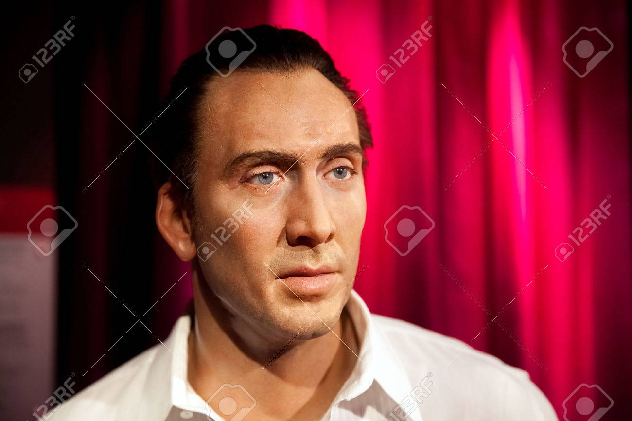 Museo Delle Cere Amsterdam.Amsterdam Netherlands March 2017 Wax Figure Of Nicolas Cage