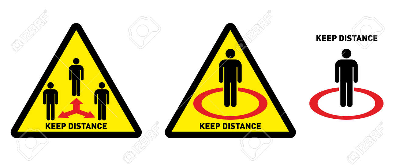 Social distancing icon. Keep Your Distance Keep t. Avoid crowds. Coronovirus epidemic protective. Vector illustration - 157344187