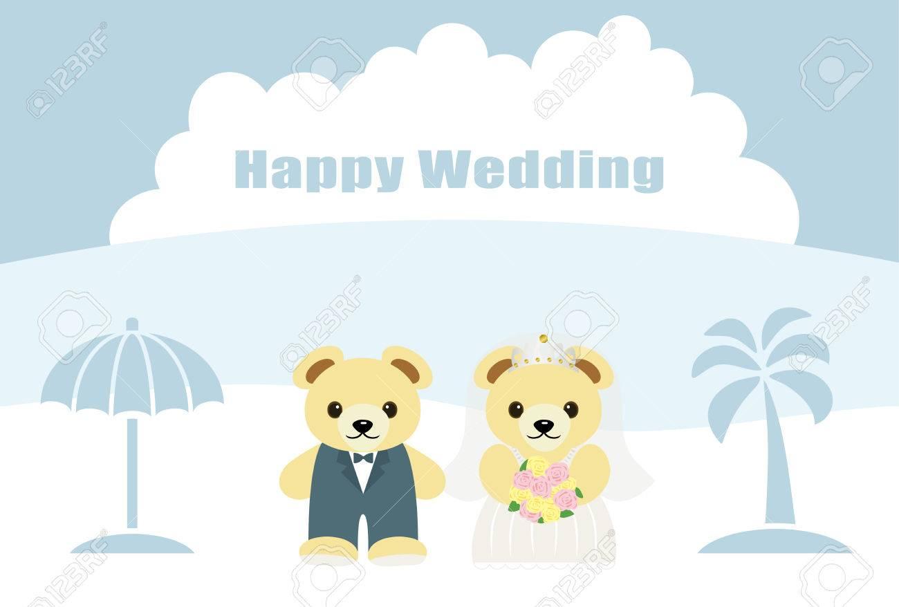 Ein Paar Baren Hochzeitszeremonien Am Strand Lizenzfrei Nutzbare