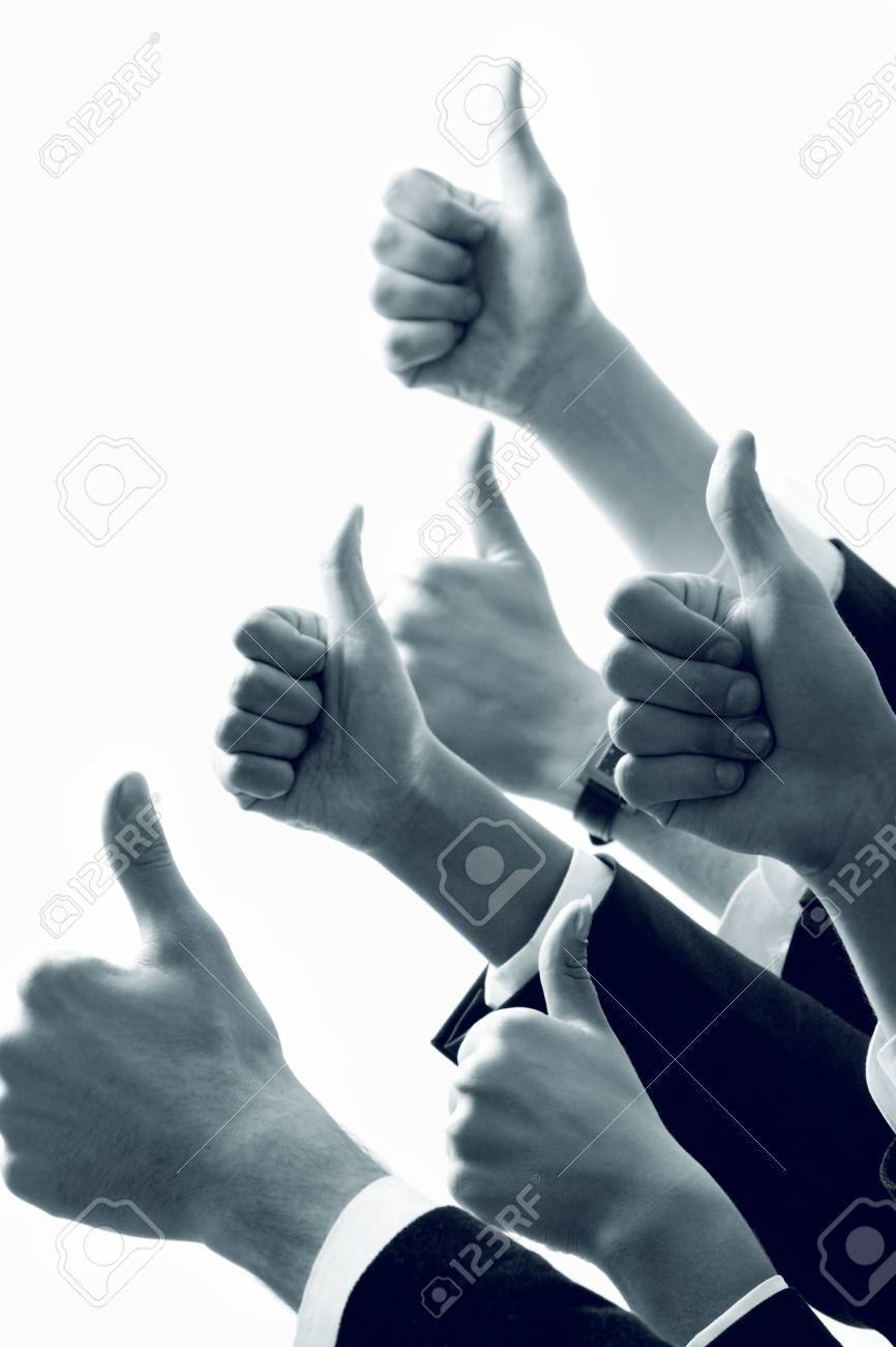 Row of  human hands showing sign of okay Stock Photo - 2649904