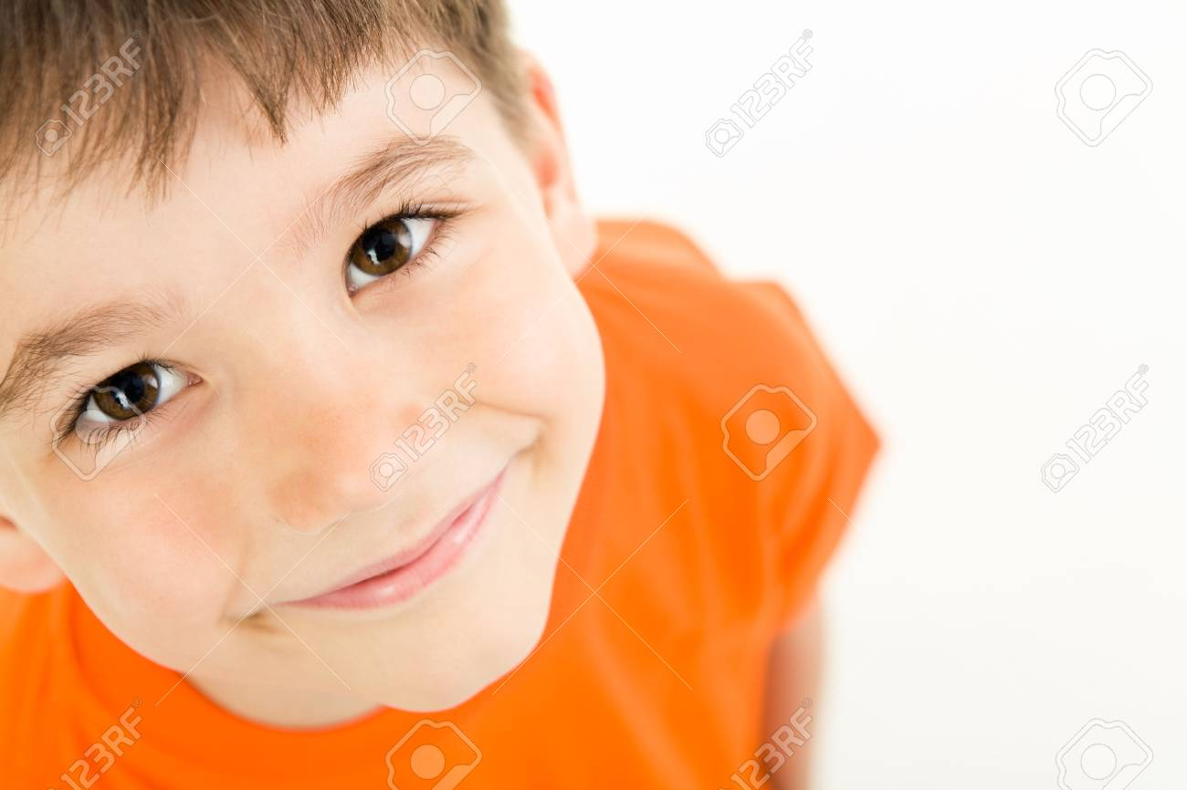 Photo of adorable young boy looking at camera Stock Photo - 3103286