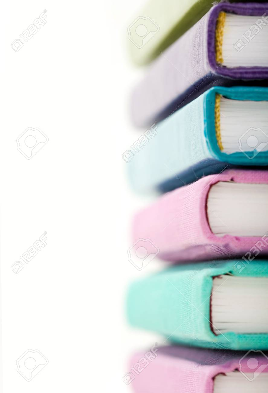 Stack of various colors books with focus on their fore part Stock Photo - 3858902
