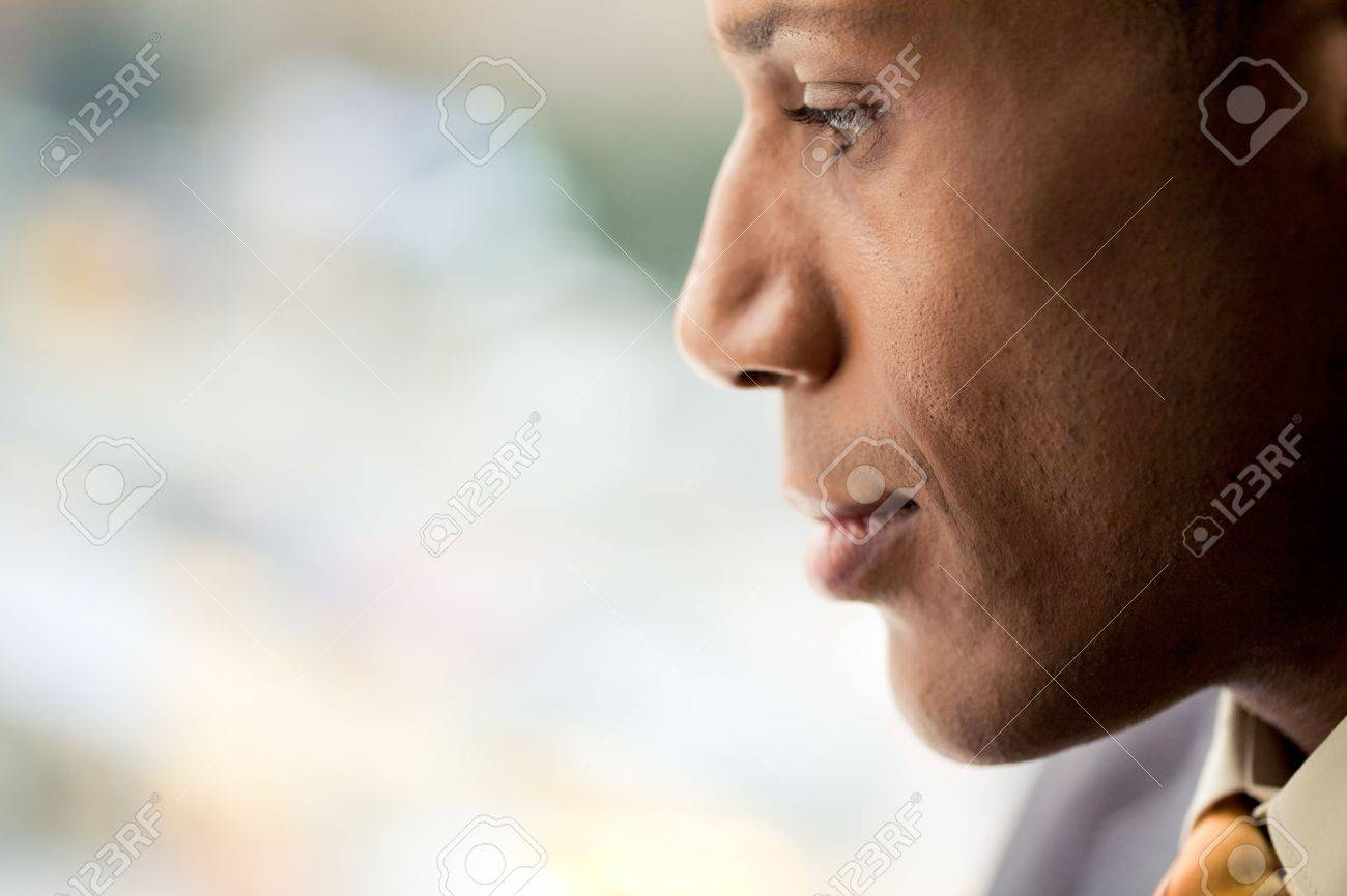 Image of attractive male with pensive expression on his face Stock Photo - 3929172