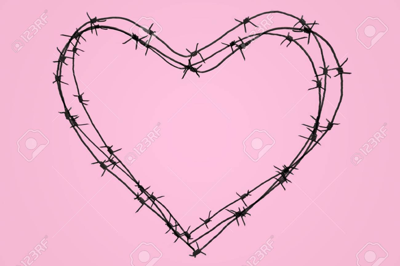 Photo of big iron heart over pink background Stock Photo - 4846257