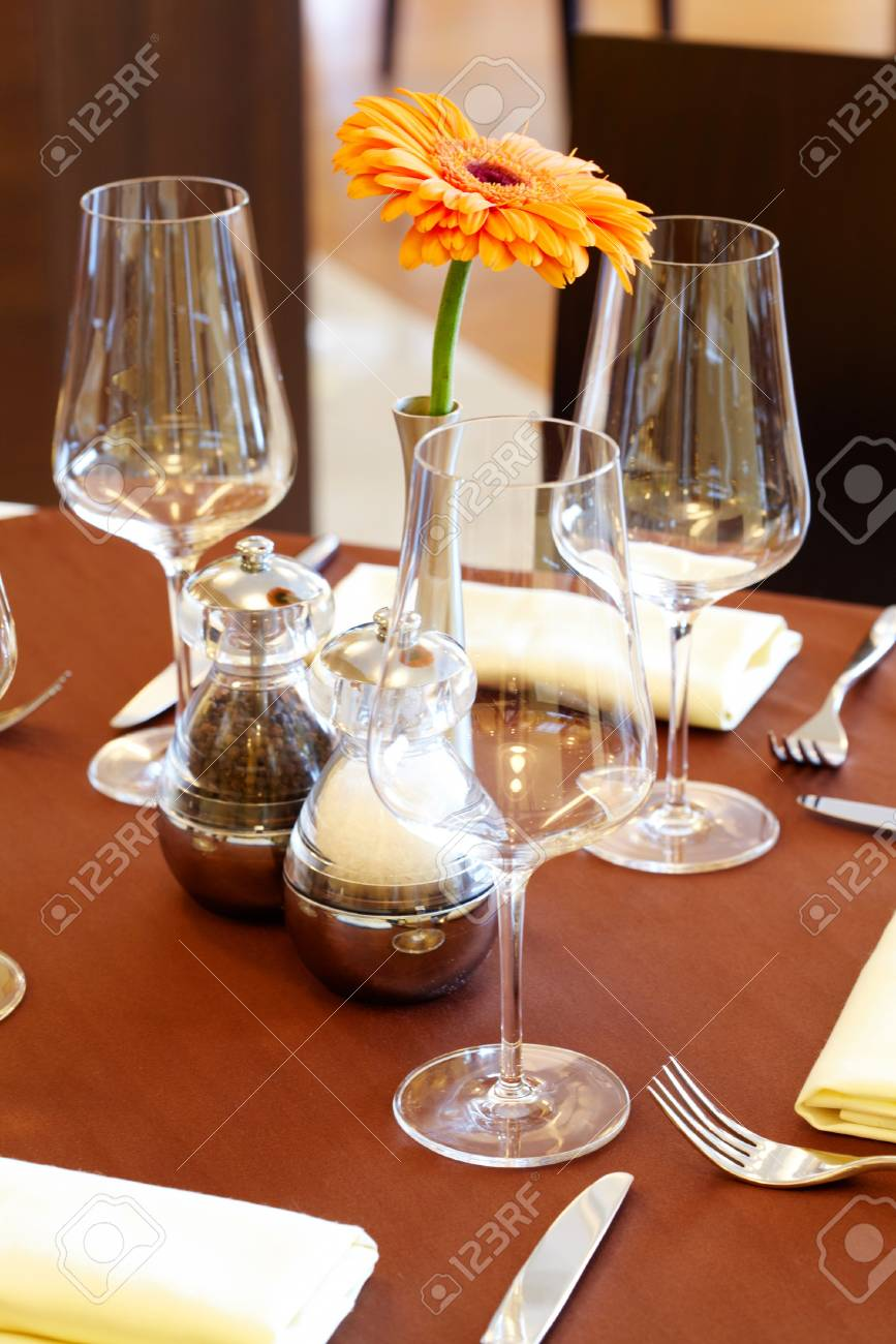 Image of nice table setting Stock Photo - 6893411