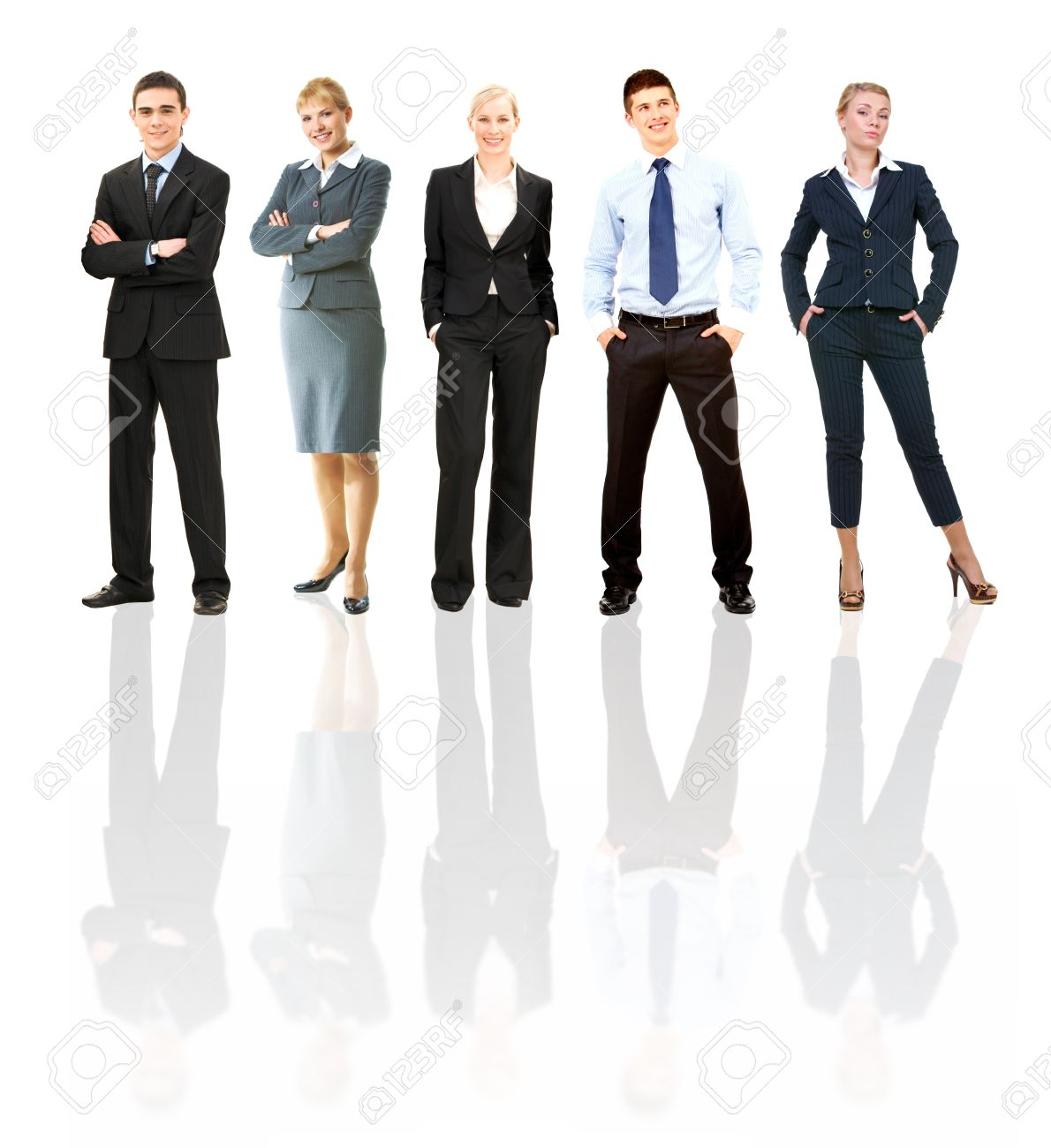 Collage of several business people posing before camera Stock Photo - 7463768