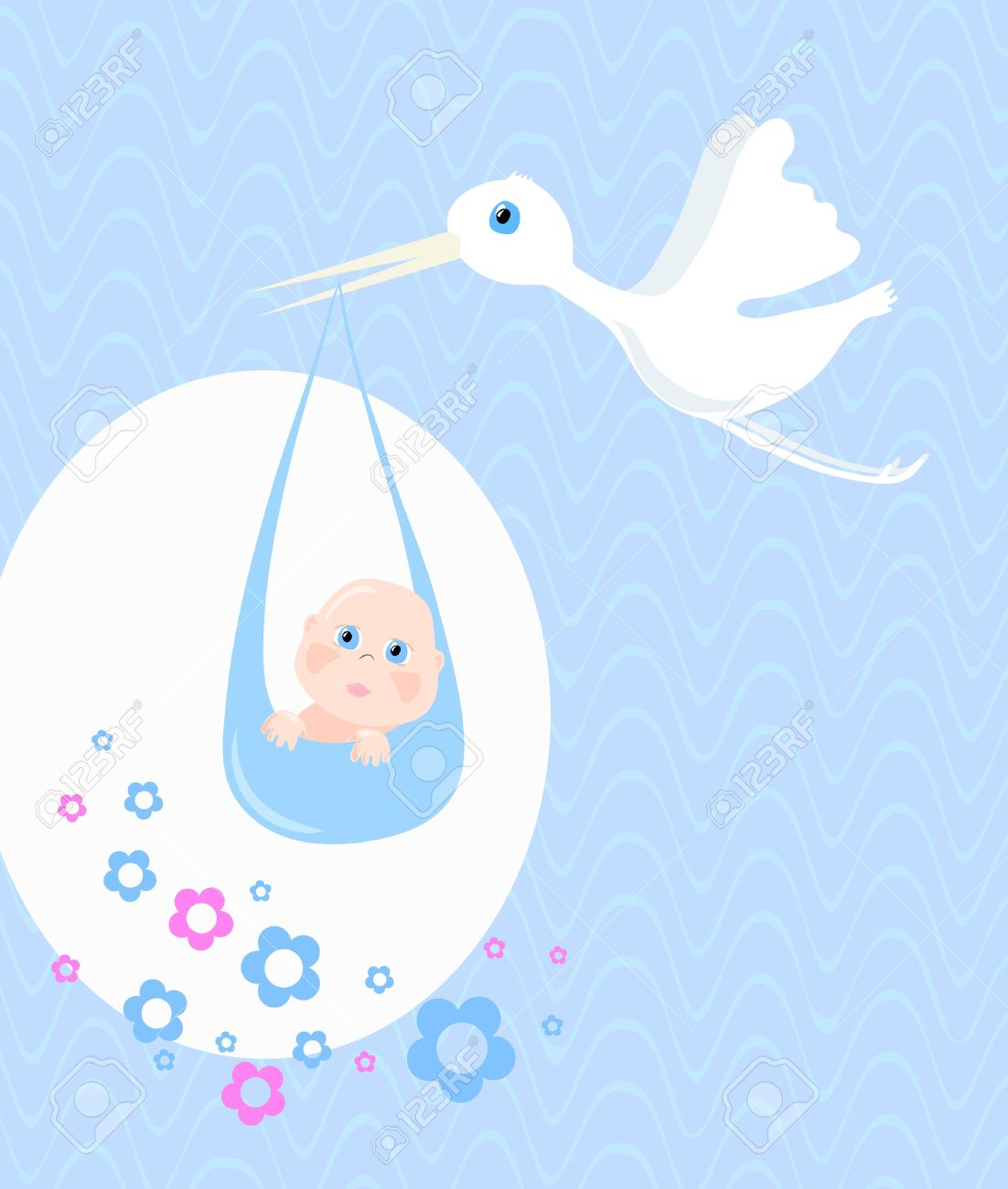 Delivery of baby, vector illustration Stock Vector - 9428056