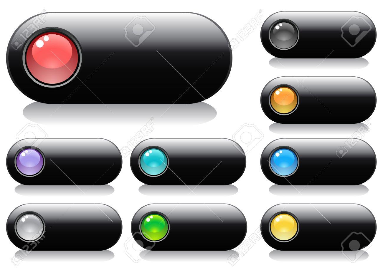 ddb2db032d1e0 Brillantes Botones Para Diseño Web Con Esferas