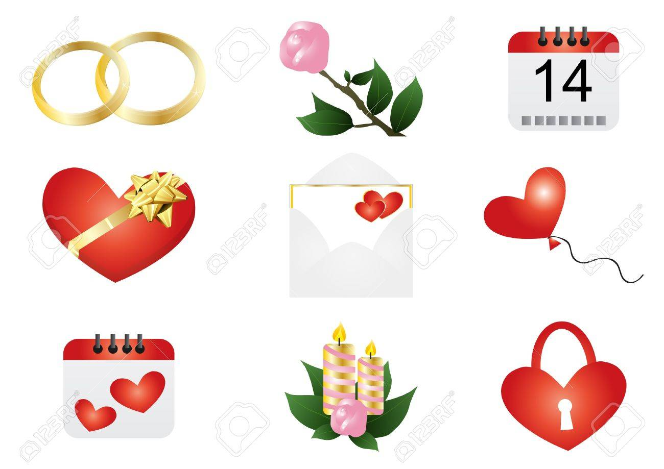 Uncategorized Valentines Day Symbols valentines day symbols thin blog ilration of valentine stock vector 9461871