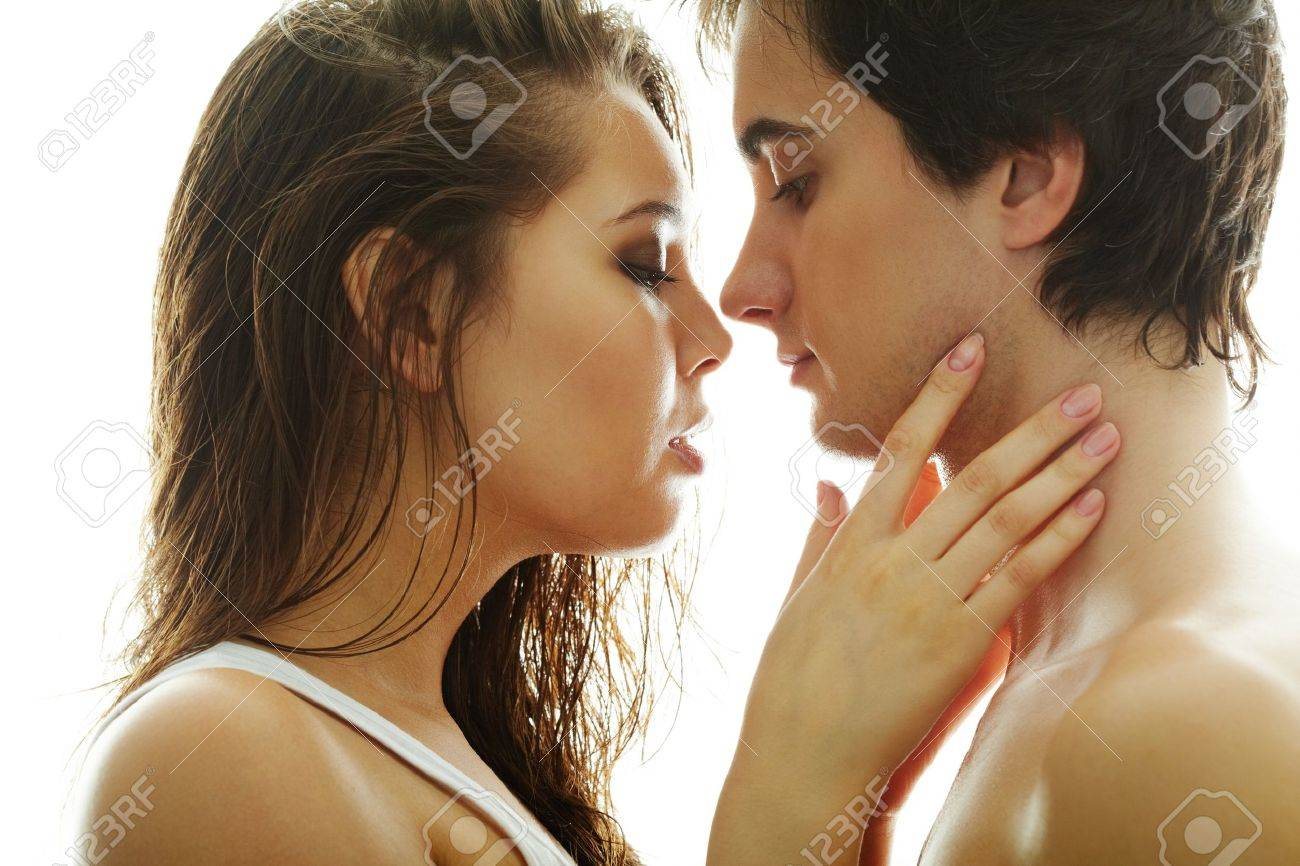 Pretty brunette and handsome man looking at one another Stock Photo - 9725792
