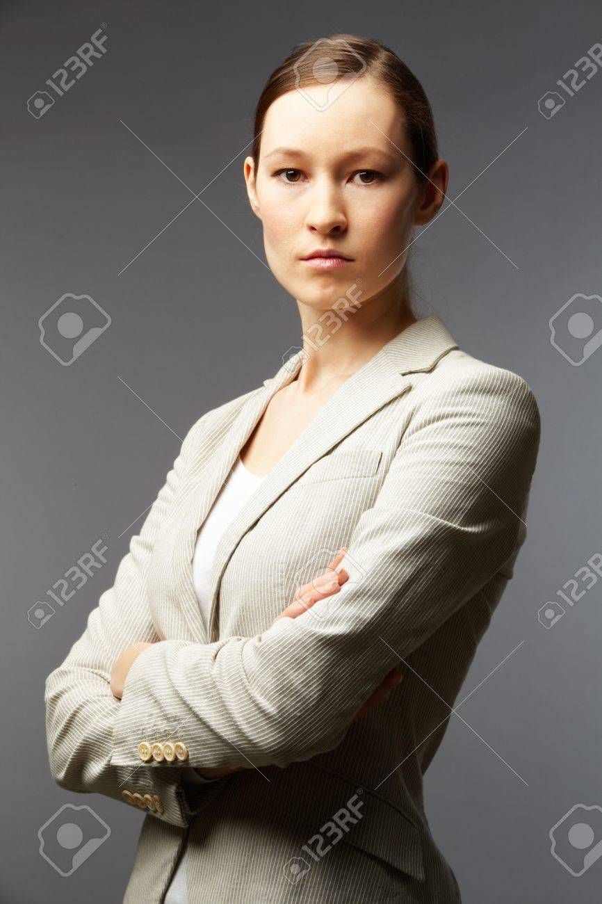 Portrait of a smart businesswoman looking at camera Stock Photo - 9726992