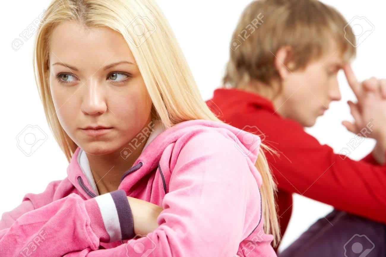 Image of sad couple having conflict Stock Photo - 9727155