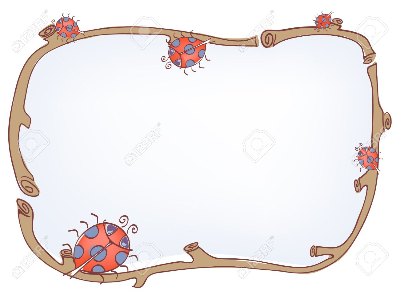 Vector illustration of frame with ladybird Stock Vector - 9720646