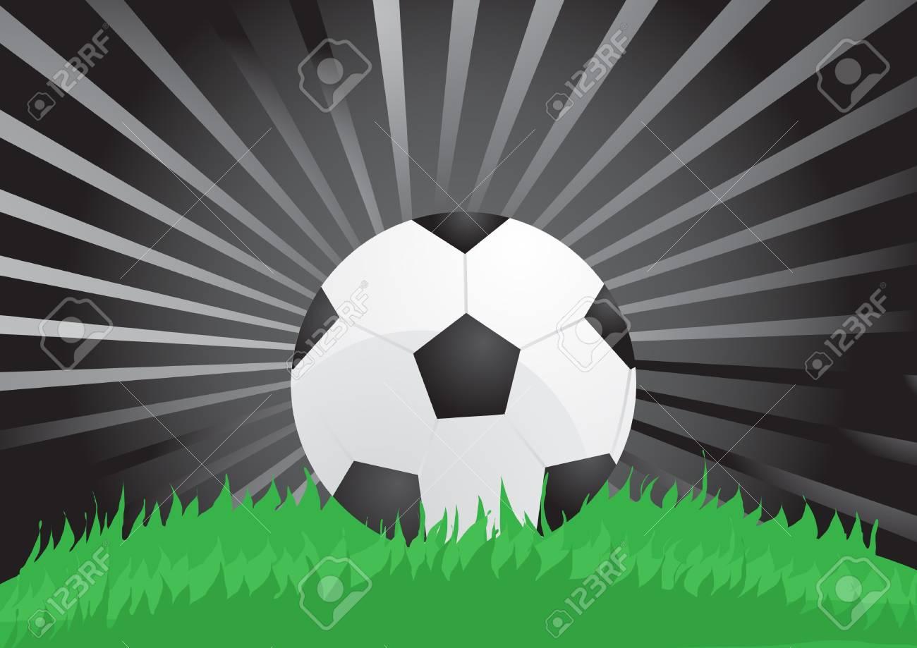illustration of soccer ball on stadium in the night Stock Vector - 9728094