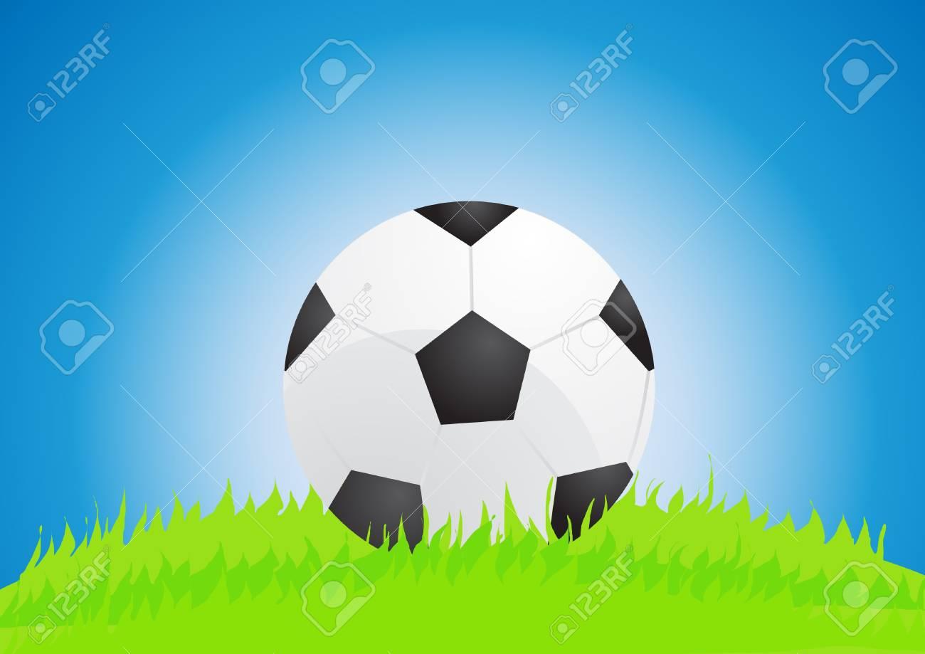 illustration of soccer ball on stadium Stock Vector - 9727808