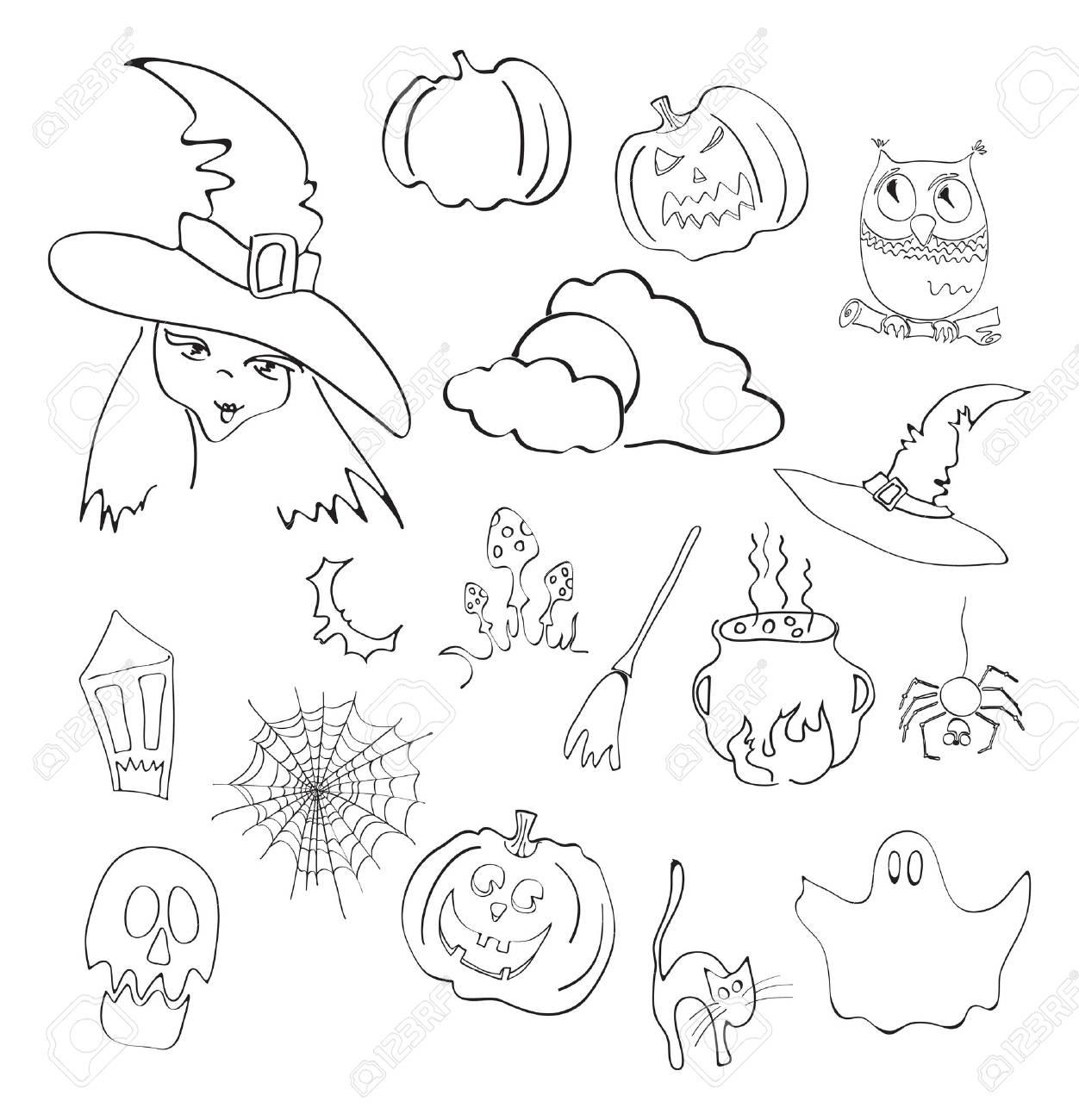 illustration of halloween elements Stock Vector - 9728019