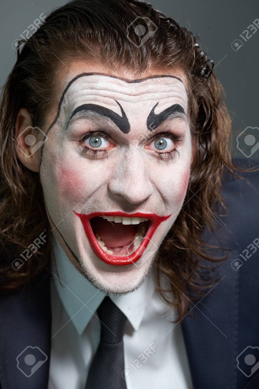 Portrait of dramatist making face at camera Stock Photo - 9963167