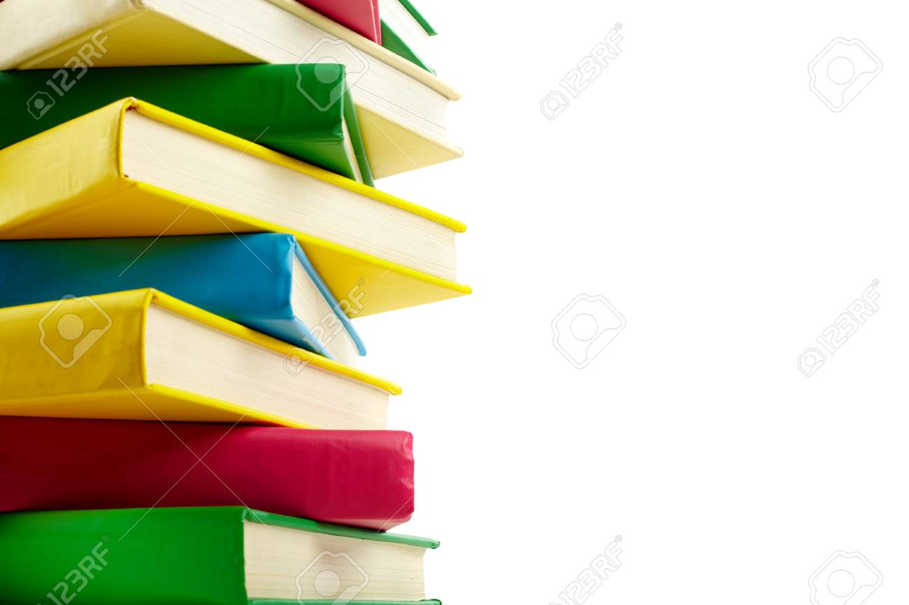 Colorful stack of books with copyspace for your text Stock Photo - 10068651