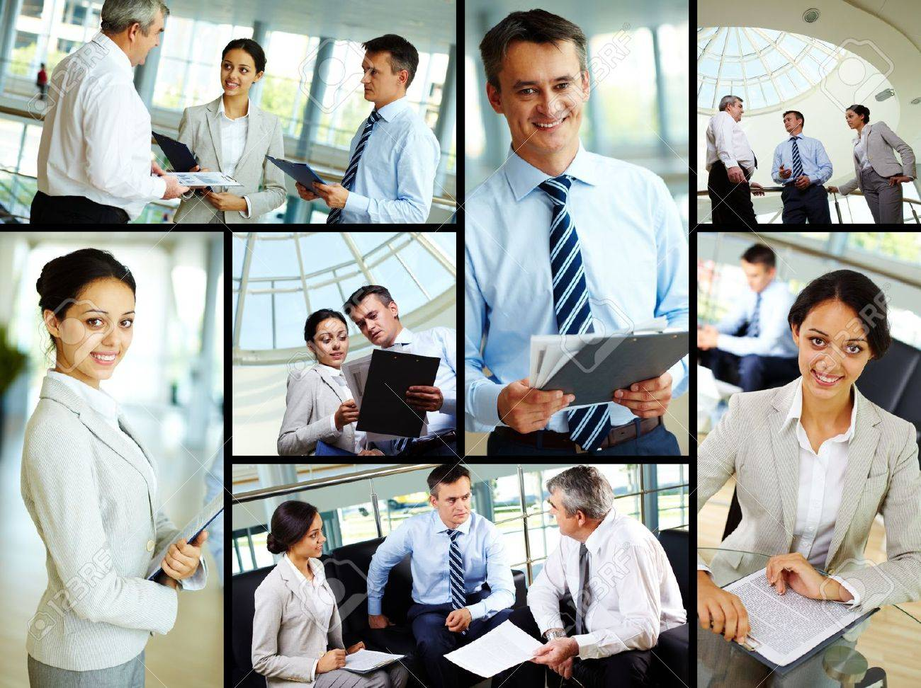 Collage of business people at work and leaders Stock Photo - 10627414