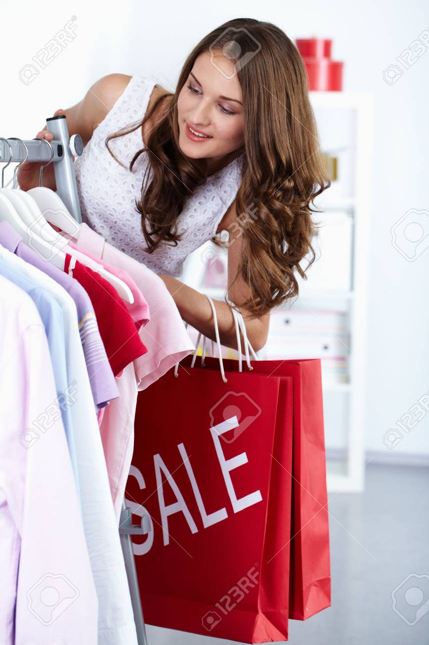 Young woman at clothing store at sales period Stock Photo - 10699974