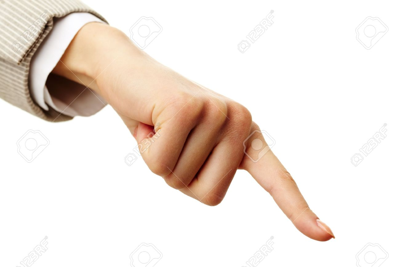 Photo of human hand with forefinger pointing down Stock Photo - 11425532