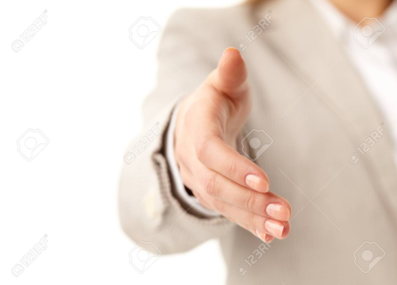 Image of female giving her hand for a handshake Stock Photo - 11426009