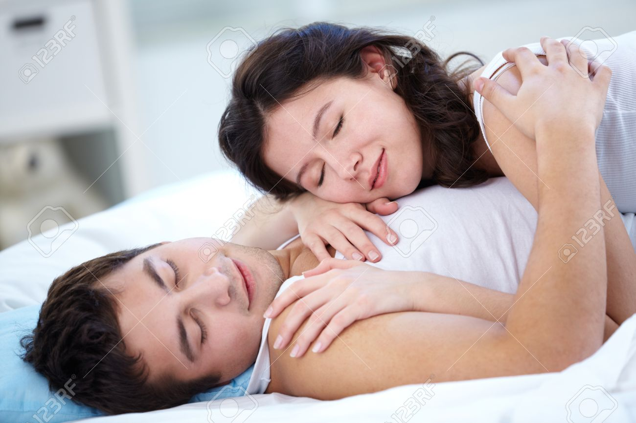 Lovers sleeping together in bed Stock Photo   12381181. Lovers Sleeping Together In Bed Stock Photo  Picture And Royalty