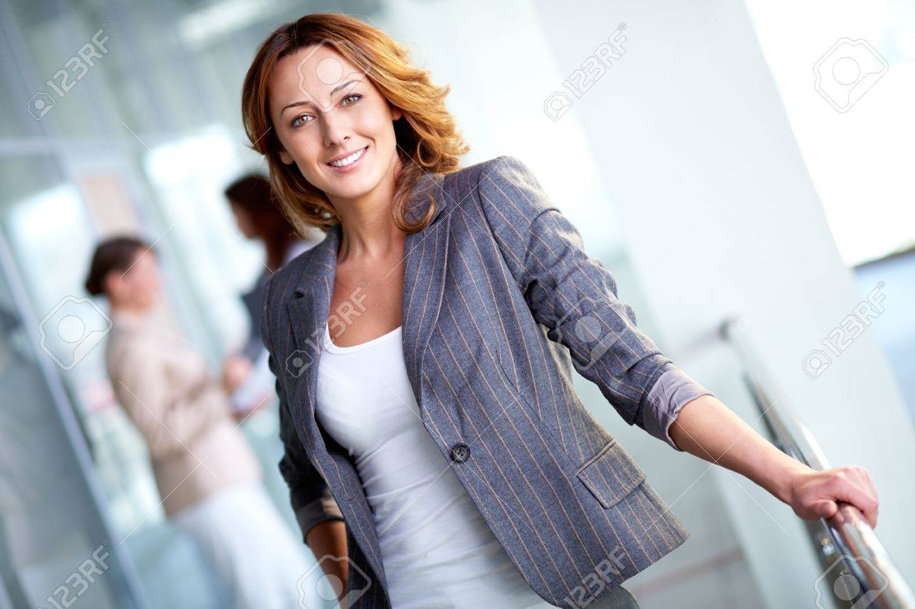 Image of pretty businesswoman looking at camera Stock Photo - 12620160