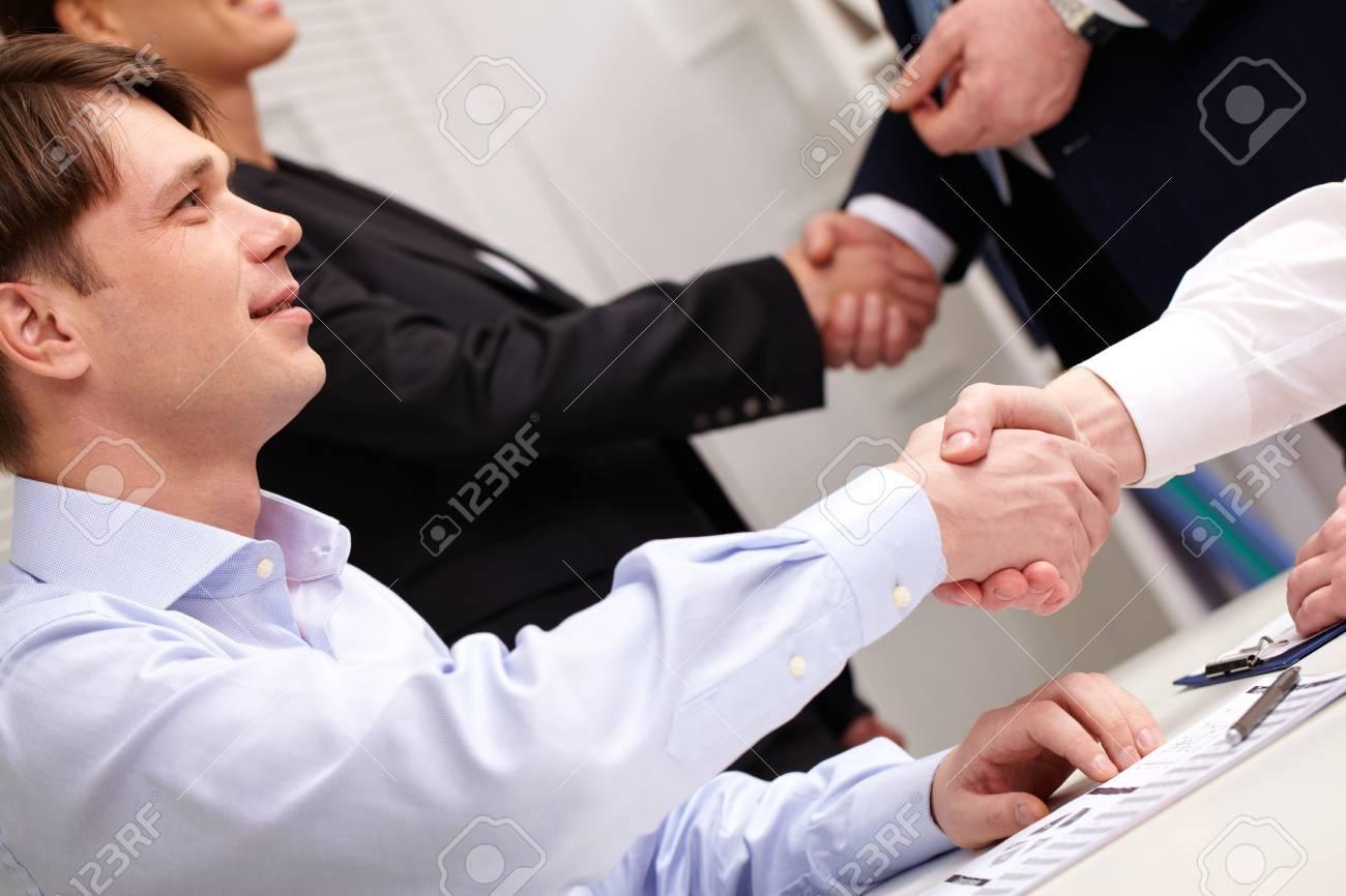Group of business people shaking hands celebrating fruitful partnership Stock Photo - 13341866