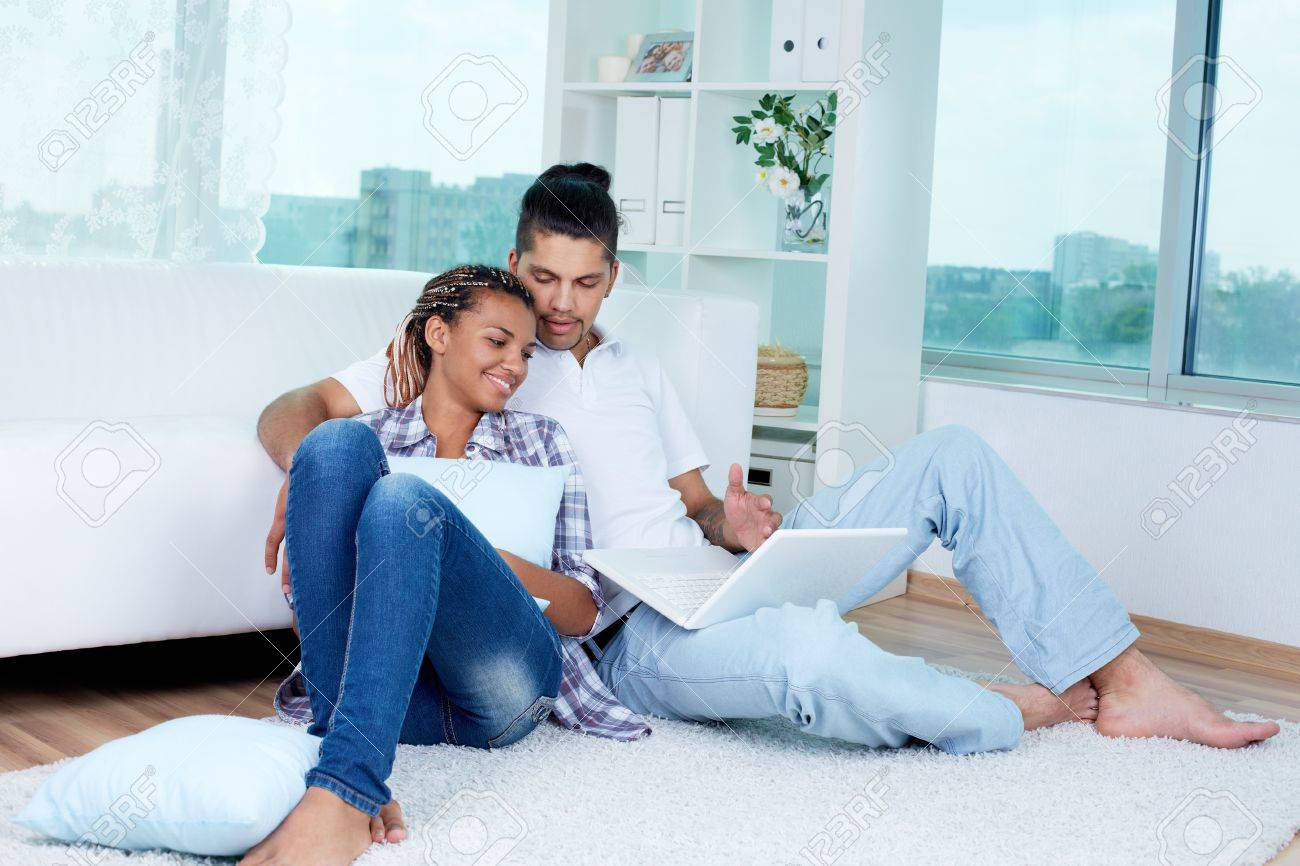 Image of young guy and his girlfriend spending free time together Stock Photo - 15185296