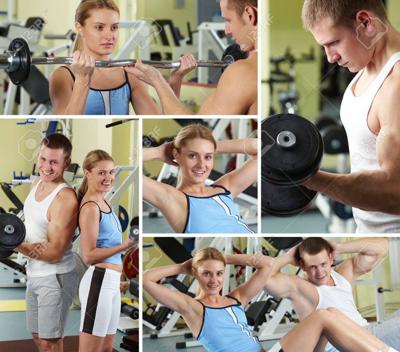 Скачать спортивный коллаж из фотографий онлайн