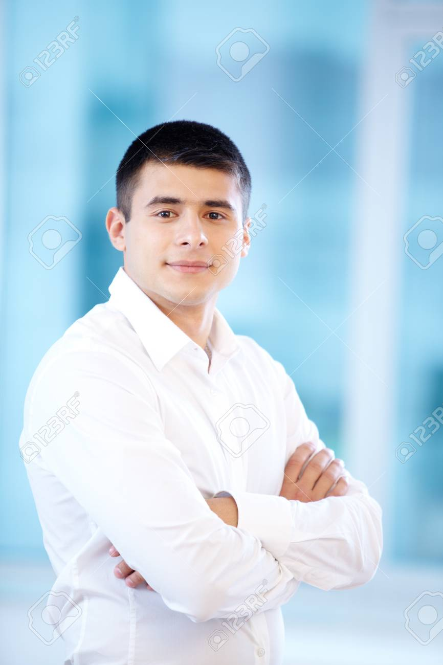 Portrait of young businessman looking at camera Stock Photo - 17340663